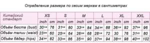 Женские размеры одежды алиэкспресс таблица